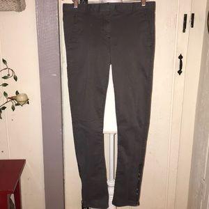 GAP Skinny Mini Khakis in Gray